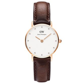 Daniel Wellington Bristol Ladies' Brown Leather Strap Watch - Product number 4899970