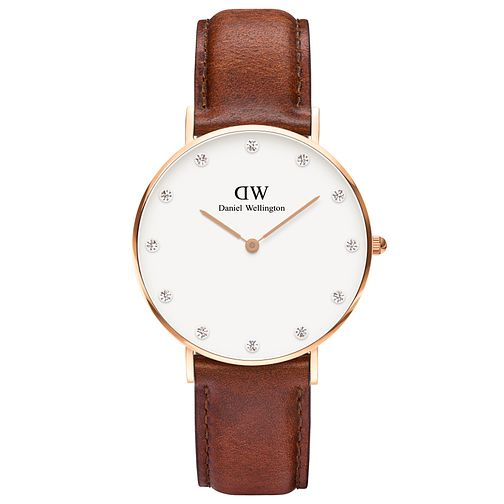 Daniel Wellington Classy St Mawes Ladies' Leather Watch - Product number 4901401