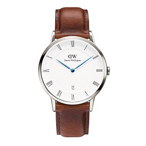 Daniel Wellington Dapper St Mawes Men's Leather Strap Watch - Product number 4901789