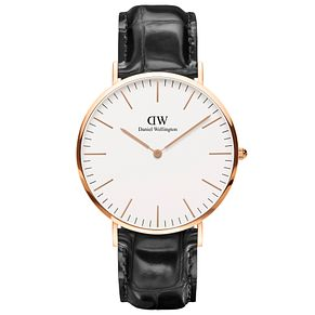 Daniel Wellington Reading Men's Black Leather Strap Watch - Product number 4901819