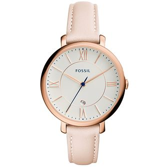 Fossil Ladies' Rose Gold Tone Strap Watch - Product number 4904370