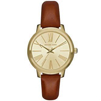 Michael Kors Ladies' Gold Tone Strap Watch - Product number 4904834