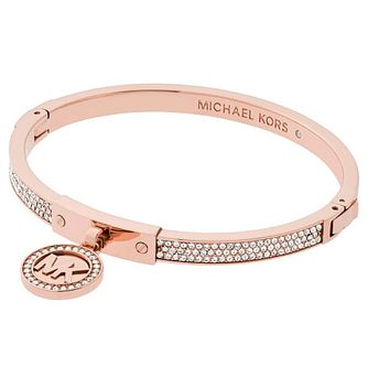Michael Kors Rose Gold Tone Stone Set Bangle - Product number 4908732
