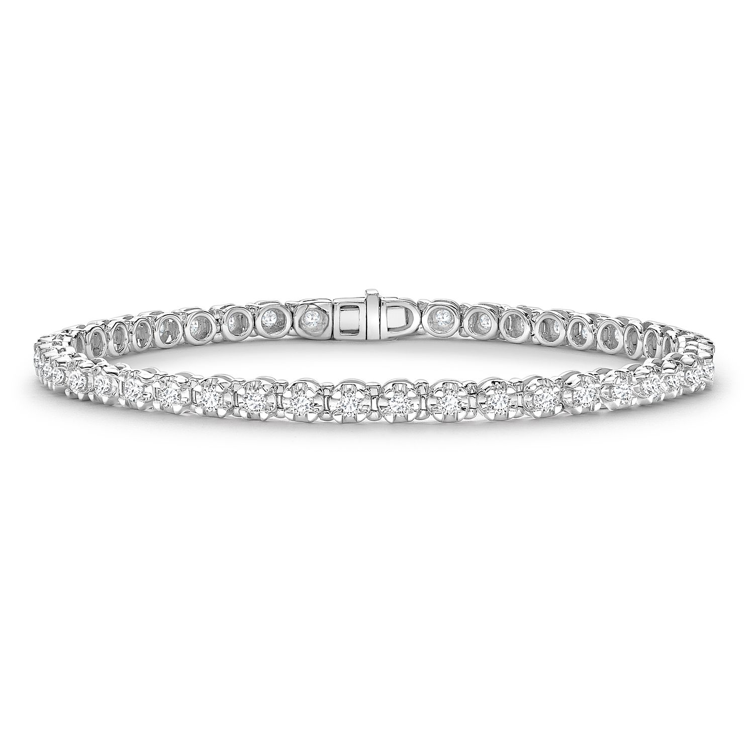 platinum band in jewelers product bracelet eternity reuven diamond cut emerald gitter