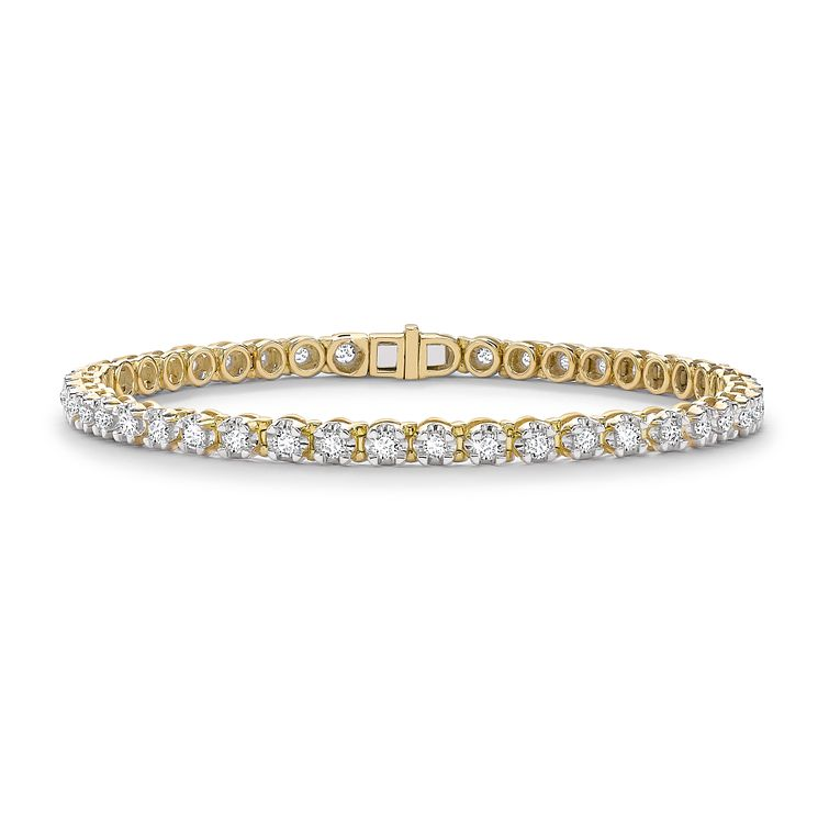9ct Yellow Gold 2ct Diamond Bracelet - Product number 4909747
