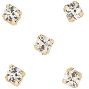 9ct Gold Crystal Nose Stud Set of 5 - Product number 4914104