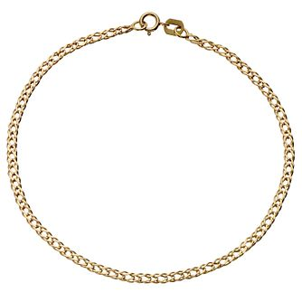 "9ct Yellow Gold 10"" Curb Anklet - Product number 4914139"