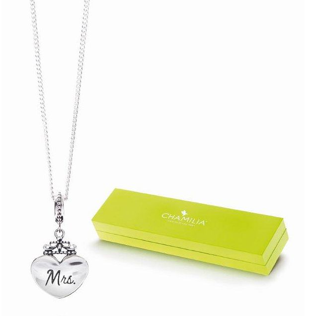 Chamilia Sterling Silver Mrs Charm Necklace - Product number 4916204