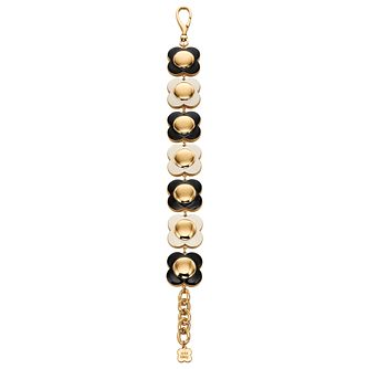 Orla Kiely Black & Cream Chunky Flower Bracelet - Product number 4917170