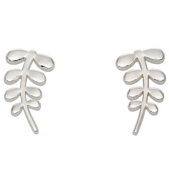 Orla Kiely Silver-Plated Leaf Stud Earrings - Product number 4917227