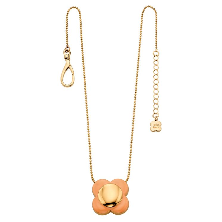 Orla Kiely Single Pink Flower Necklace - Product number 4918436