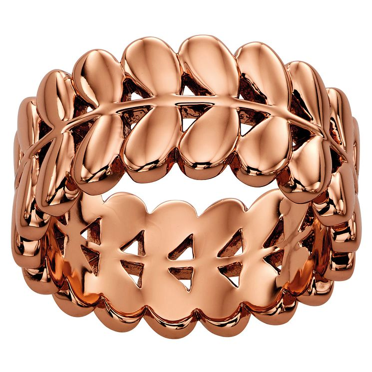 Orla Kiely Rose Gold-Plated Leaf Ring Size L - Product number 4919068