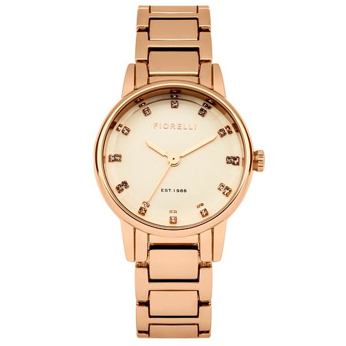 Fiorelli Ladies Rose Gold Tone Bracelet Watch - Product number 4925696