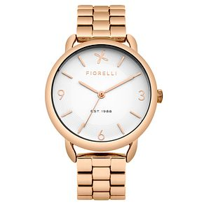 Fiorelli Ladies Rose Gold Tone Bracelet Watch - Product number 4925947