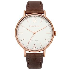 Fiorelli Ladies Brown Leather Strap Watch - Product number 4928687