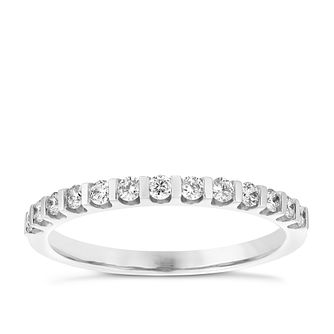 9ct White Gold 0.25ct Diamond Ring - Product number 4929969