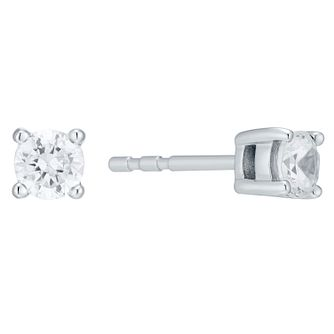 18ct White Gold 0.50ct Diamond Earrings F/G VS2 - Product number 4931653