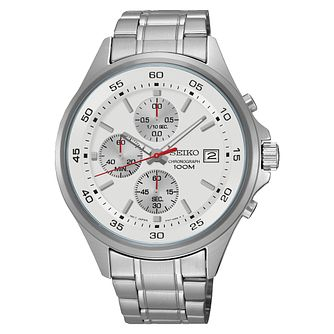 Seiko Men's Stainless Steel Chronograph Watch - Product number 4938593