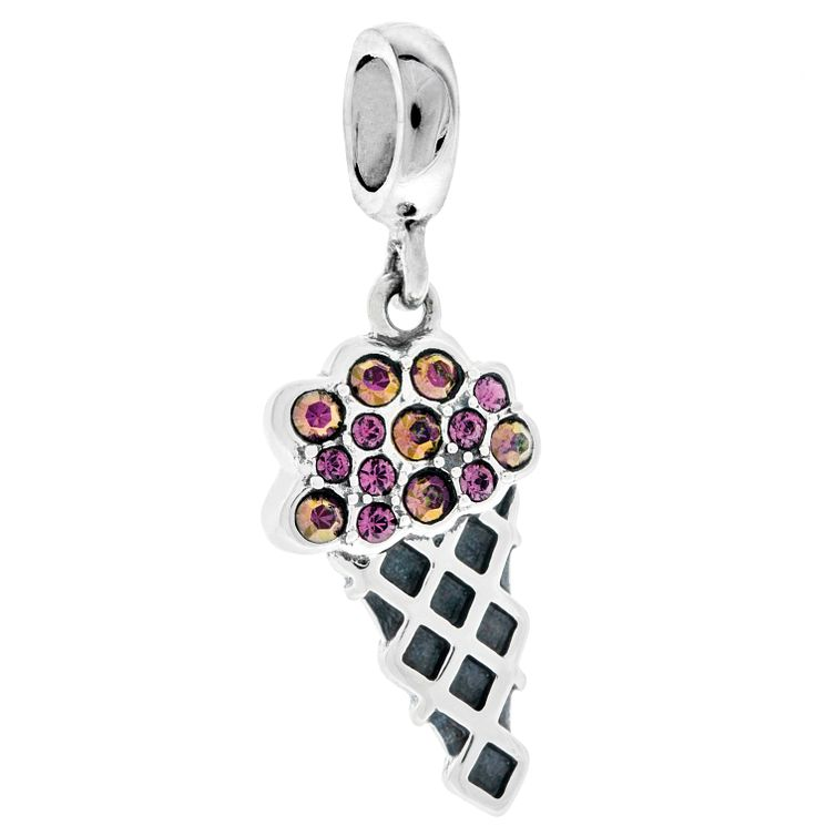 Chamilia Sterling Silver Swarovski Crystal Gelato Charm Bead - Product number 4943465