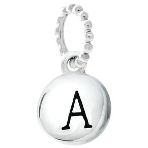 Chamilia Sterling Silver A Alphabet Disc Charm - Product number 4943953