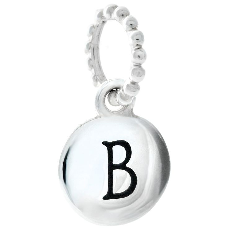 Chamilia Sterling Silver B Alphabet Disc Charm Bead - Product number 4943961