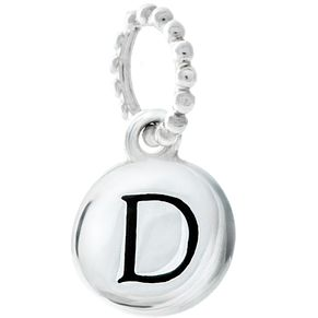 Chamilia Sterling Silver D Alphabet Disc Charm Bead - Product number 4943996