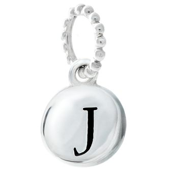 Chamilia Sterling Silver J Alphabet Disc Charm - Product number 4944062