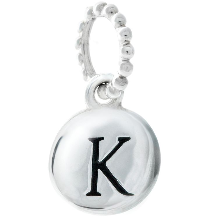Chamilia Sterling Silver K Alphabet Disc Charm Bead - Product number 4944070