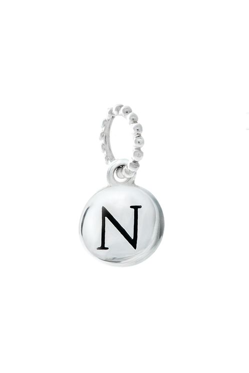 Chamilia Sterling Silver N Alphabet Disc Charm Bead - Product number 4944100