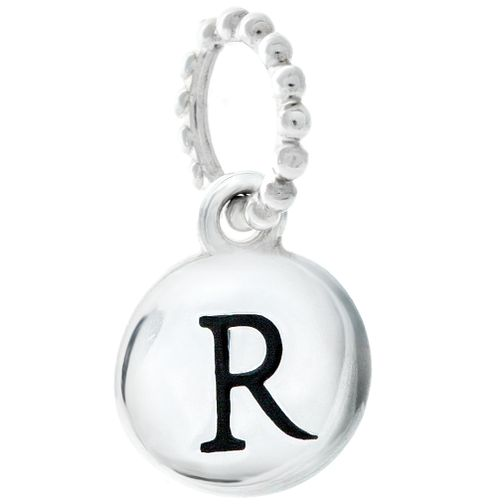 Chamilia Sterling Silver R Alphabet Disc Charm Bead - Product number 4944143