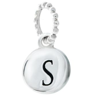 Chamilia Sterling Silver S Alphabet Disc Charm Bead - Product number 4944151