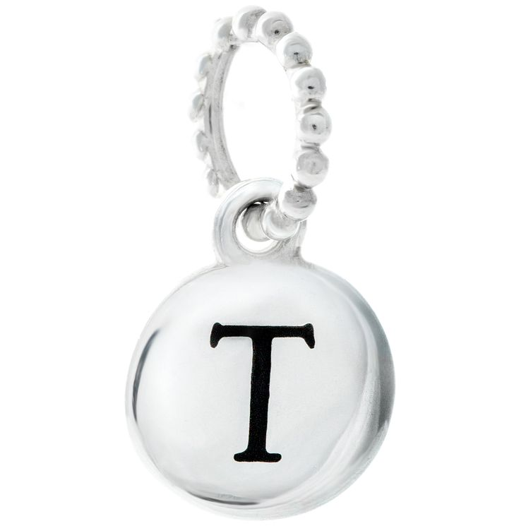 Chamilia Sterling Silver T Alphabet Disc Charm Bead - Product number 4944178