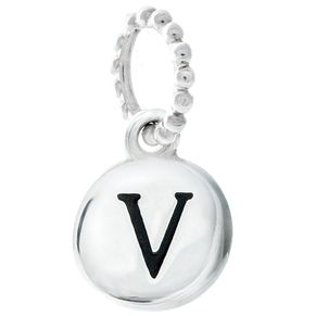 Chamilia Sterling Silver V Alphabet Disc Charm - Product number 4944194