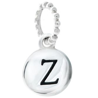 Chamilia Sterling Silver Z Alphabet Disc Charm Bead - Product number 4944259