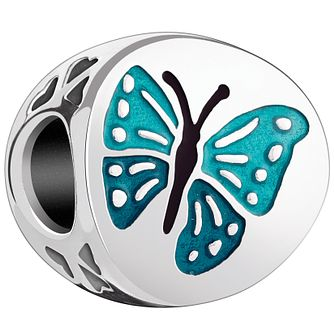 Chamilia Sterling Silver & Teal Enamel One In A Million Bead - Product number 4944348