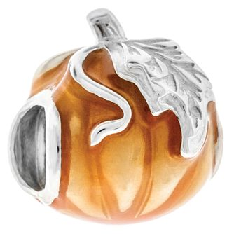 Chamilia Transparent Orange Enamel Pumpkin Bead - Product number 4944429