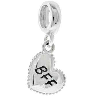 Chamilia Sterling Silver Petite Milgrain BFF Heart Charm - Product number 4944720
