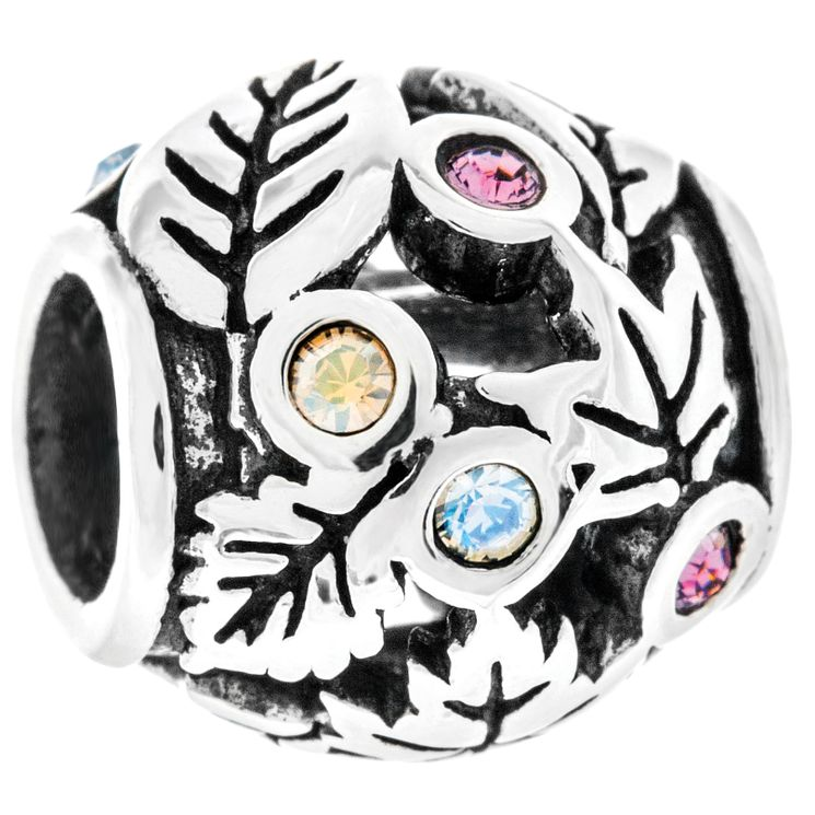 Chamilia Silver Swarovski Falling Leaves Treasure Bead - Product number 4944917