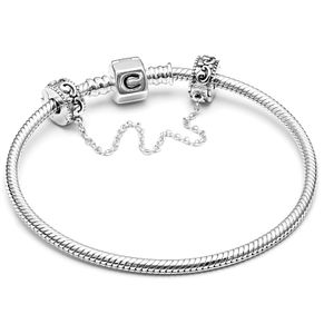 "Chamilia Silver 7.5"" Snap Bracelet With Safety Chain - Product number 4945573"