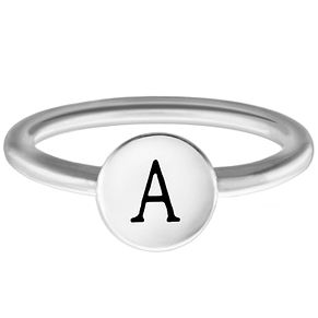 Chamilia Sterling Silver A Alphabet Disc Ring Small - Product number 4946227
