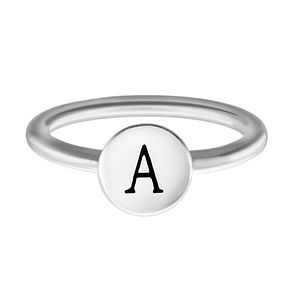 Chamilia Sterling Silver A Alphabet Disc Ring Medium - Product number 4946340