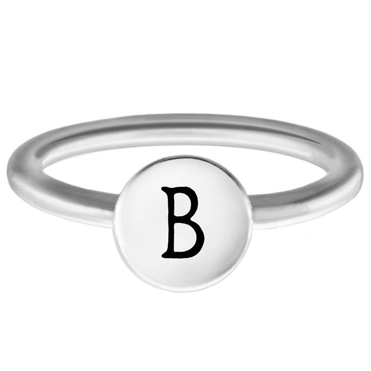 Chamilia Sterling Silver B Alphabet Disc Ring Size P - Product number 4946405