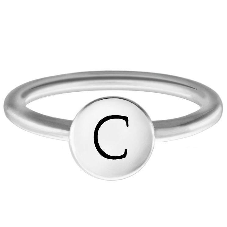 Chamilia Sterling Silver C Alphabet Disc Ring Extra Large - Product number 4947010