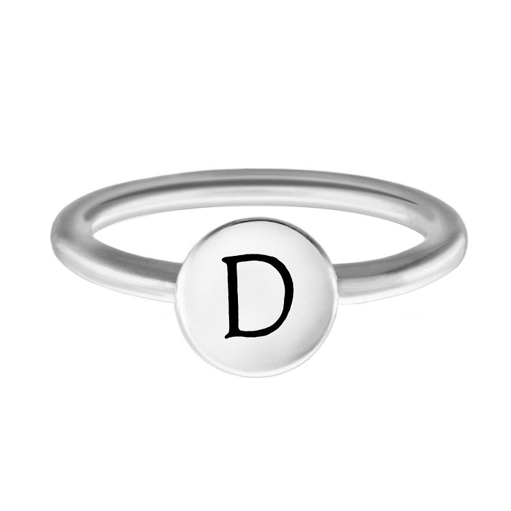 Chamilia Sterling Silver D Alphabet Disc Ring Medium - Product number 4947045