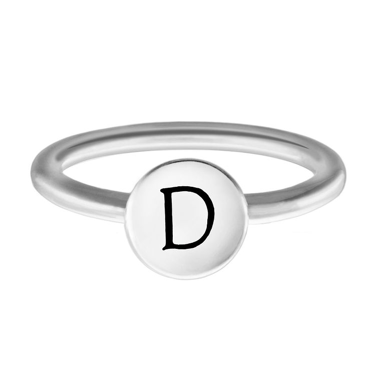 Chamilia Sterling Silver D Alphabet Disc Ring Large - Product number 4947053