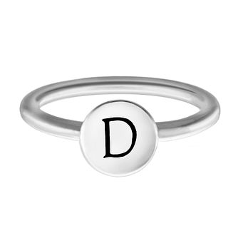 Chamilia Sterling Silver D Alphabet Disc Ring Extra Large - Product number 4947061