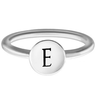 Chamilia Sterling Silver E Alphabet Disc Ring Extra Large - Product number 4947134