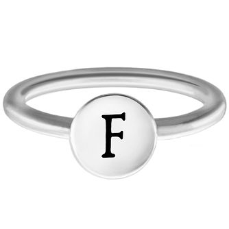 Chamilia Sterling Silver F Alphabet Disc Ring Extra Large - Product number 4947185