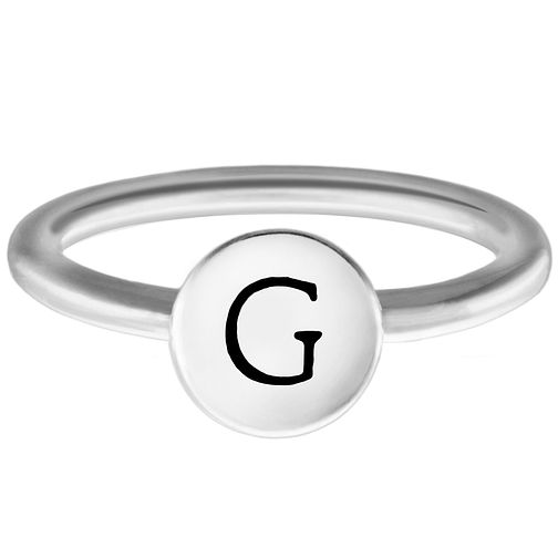 Chamilia Sterling Silver G Alphabet Disc Ring Extra Small - Product number 4947207