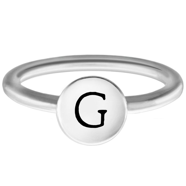 Chamilia Sterling Silver G Alphabet Disc Ring Large - Product number 4947339